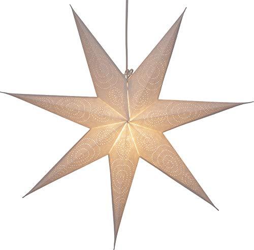 Guru-Shop Faltbarer Advents Leucht Papierstern, Weihnachtsstern 60 cm - Suriname, Star Fensterdeko, 5 Spitzen