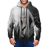 Drfetferatf Final Fantasy XII-Sephiroth Mens Full Zip Hoodie,3D Printing Long Sleeve Casual Jacket Hooded Medium Black