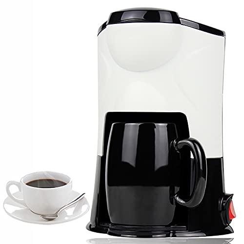 Bias&Belief 220V Cafetera Superautomatica Cafetera Goteo Cafetera Italiana Electrica Cafetera Espresso con Taza 300W 150ML,Black and White