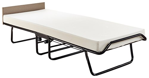 JAY-BE New Supreme Folding Bed With Memory Foam Mattress And Automatic Folding Legs, Black, Single