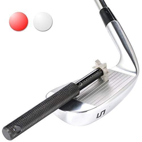 Golfschläger-Rillenschärfer Reiniger für Reparaturen Golfzubehör, das Rückwärtsdrall und Ball-Kontrolle verbessert , schwarz, Einheitsgröße
