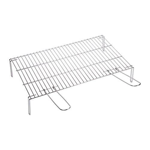 Sauvic 02450-Grillrost mit Füßen, 55 x 40 cm, stahl