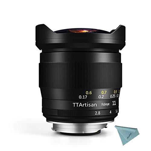 TTArtisan 11 mm F2.8 Full Fame Ultra Wide Fisheye Lente Manuale per Sony E Mount per Nikon Z per Canon EOS-R per montaggio Leica L (11 mm F2.8 Sony E Mount)