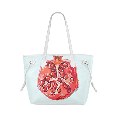 Tägliche Einkaufstasche Rot lackierte Granatapfelkerne Frucht Womans Einkaufstasche Einkaufstaschen Travel Large Capacity Water Resistant With Durable Handle