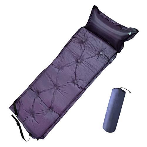 seiyishi キャンピングマット エアーマット キャンプマット エアマット 全3色 厚さ5cm 自動膨張 連結可能 テント泊 車中泊 耐水加工 アウトドア キャンプ 寝袋 枕が付き 家族旅行 インフレータブル式 連結可能 収納袋付き SY-HWC01
