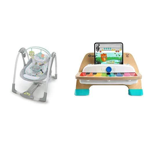 Ingenuity Columpio Compacto Plegable + Baby Einstein Juguete Musical de Madera