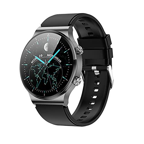 YDK Smartwatch M2pro Puede Responder A Los Relojes Inteligentes De Los Hombres con Carga Inalámbrica 1.3 Pulgadas Pantalla Táctil Redonda Bluetooth Music Sports Activity Tracker,C