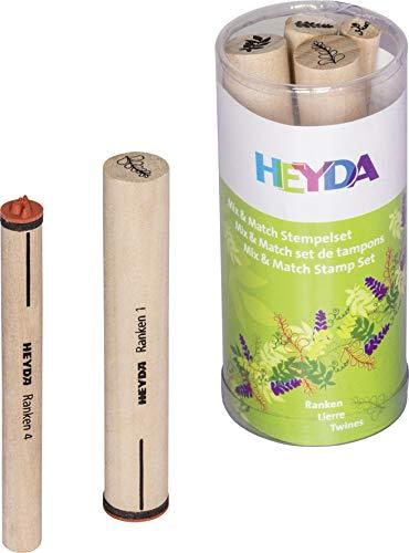 Heyda 204888440 Heyda 204888440 Stempel-Set (Mix & Match) Motivgröße: 0,7 - 1,2 cm , 4 Holz-Stempel
