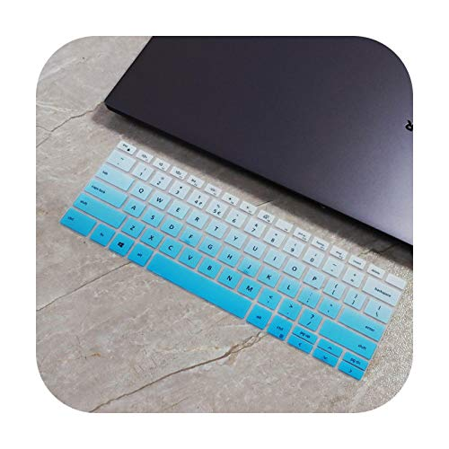 Soft Silicone Laptop Notebook Keyboard Cover Protector Skin for DELL XPS 13 9300 7390 2020 / XPS 15 9500 2020 / XPS 17 9700 2020-Gradualblue