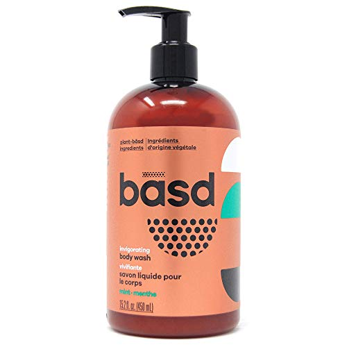 Basd Organic Moisturizing Body Wash, Invigorating Mint, Natural Skin Care, Vegan, Hypoallergenic,...