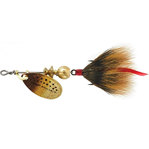 Mepps Aglia Dressed Treble Fishing Lure, 1/12-Ounce, Brown Trout/Brown Tail