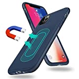 UNIOTEK Magnetic Case for iPhone X/Xs,[Invisible Built-in Metal Plate] Ultra Thin Support Magnetic Car Mount,Soft TPU Shockproof Anti-Scratch 360 Protective Cover for iPhone X/Xs 5.8'' Blue