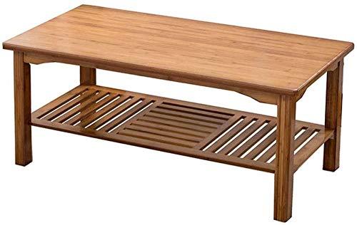 Mesa de Centro de Mesa Final Mesa de Centro de bambú nórdico Multifuncional Creativo con Doble Almacenamiento Tabla Final para Sala de Estar Sofá Mesa de té Mesa creativa-120 * 60 * 50cm Baifanta
