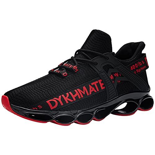 DYKHMATE Zapatillas de Deporte Hombres Mujer Running Zapatos para Correr Antishock Gimnasio...