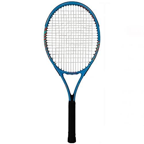 Raqueta de tenis Raqueta de tenis para adultos de 27 pulgadas con juego de raqueta de tenis, que incluye 1 pelota de tenis + 1 gel de mano (color aleatorio) Adecuado para hombres y mujeres, equipo dep