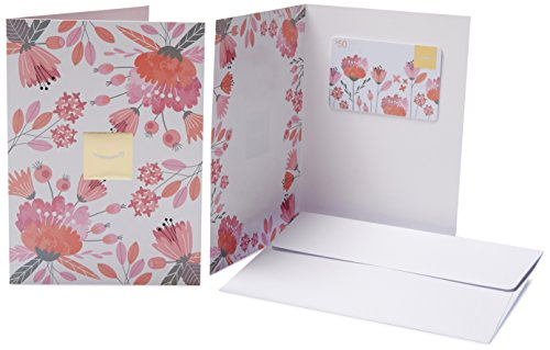 Amazon.ca $50 Gift Card in a Greeting Card (Pink Flowers Design)
