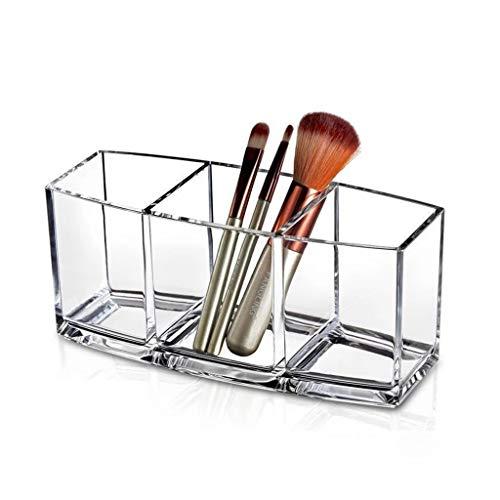 Afairy 3 Redes Almacenamiento Transparente acrílico Maquillaje Caja de Almacenamiento Cajas de Almacenamiento Escritorio cosmético organizadores Maquillaje Caja de Maquillaje (Color : Clear)