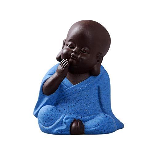 JYJYJY Regalo Estatua Escultura Budda Estatua Pequeño Monje Decoración del Hogar Figuras Miniaturas Decoración De Cerámica Esculturas Decoración del Hogar Incienso Base