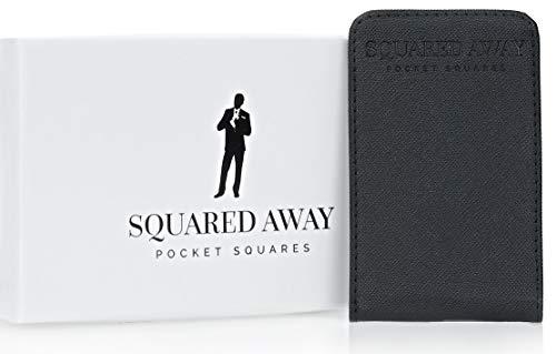 Squared Away: Men's Pocket Square Holder & Innovative Pocket Square Sleeve, Black, 7 cm wide