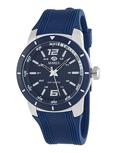 Reloj Marea Analógico Hombre B35292/4 Correa Silicona Azul