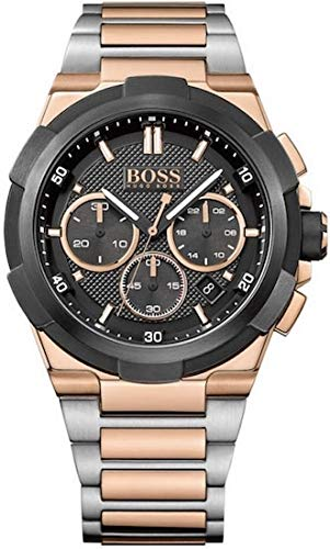 Hugo BOSS Heren Chronograaf Quartz Horloge met RVS Band 1513358