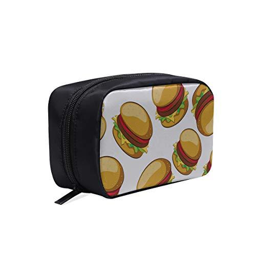 Kühle Kulturbeutel Fast Food lecker Hamburger Reise Kulturbeutel für Kinder Mode Reisetaschen für Frauen Kindermode Tasche Kosmetiktaschen Multifunktions-Etui Benutzerdefinierte Kulturbeutel