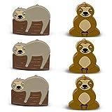 Sloth Bag Clips, 6 Woodland Sloth Chip Clip Set, Tight Food Saver, Snack Bag Sealer, Chip Clips Bag Clips Food Clips, Air Tight, Cute Sloth Party Supplies, Fun Sloth Stuff, Bag Clips for Food Storage