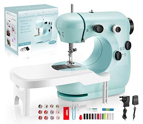 Pasutewel Nähmaschine Anfänger für Kinder, Tragbare Nähmaschine mit Fußpedal DIY Materialien elektrische Haushalt Nähen Werkzeug, für Haushalte, Anfänger, Kinder, Mädchen