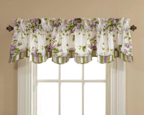 Waverly Sweet Violets Lined Window Valance