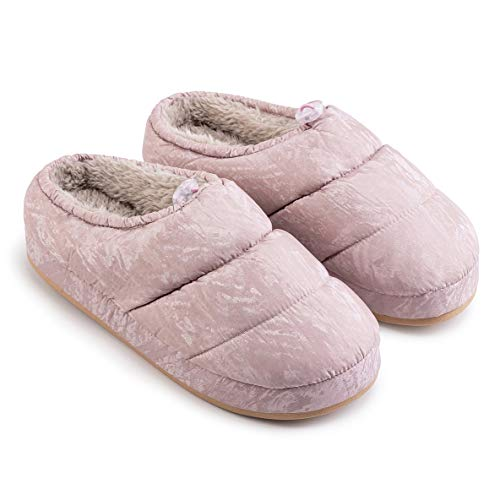 KFDS Unisex Soft Down Slippers ,Thermal Full Tent Slippers Low-Top Winter House Slippers Warm Slip On Shoes (Color : Pink, Size : EUR39-40)
