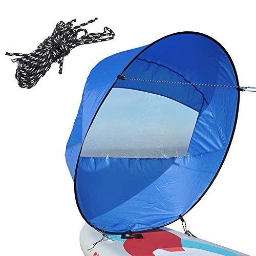 "Kayac Vela Paleta de Viento, Vela Plegable Windwind Wind Sail Instant Popup Anti-UV Windsurfing Sail Shade para canoas, Botes inflables, Tabla de Paddle 42\"""