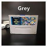 GF DIY 800 EN 1 TARJETA DE JUEGO SUPER CHEA PRO REMIX AJUSTE PARA LA CONSOLA DEL JUEGO DE 16 BIT Cartucho de juego Support Todos los EEUU / EUR / Japón Consolas GJF ( Color : SuperPro Grey Shell )