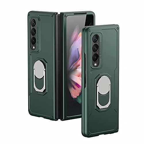 RanTuo Capa para Samsung Galaxy Z Fold 3 5G, TPU + PC Hybrid Armor 2 em 1, capa protetora dupla, com suporte, à prova de choque, capa antiqueda para Samsung Galaxy Z Fold 3 5G (verde)