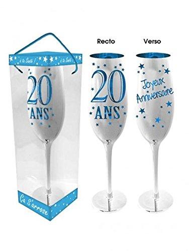 Flûte à Champagne 20 Ans - Bleu