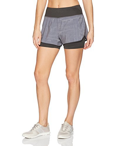 Beachbody Women's Flex 2-In-1 Shorts, Charcoal, Medium
