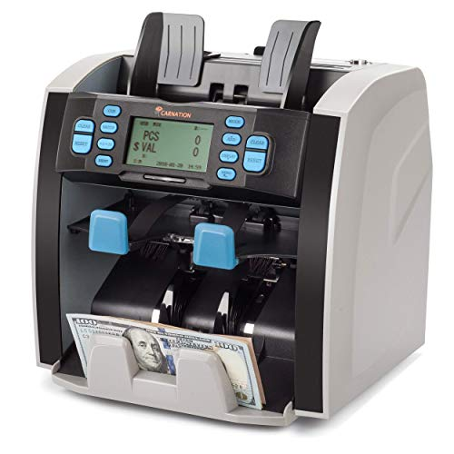 CARNATION Mixed Denomination Bill Money Value Counter and Sorter CR1500 Bank Grade Currency Sorting 2 Year Warranty…