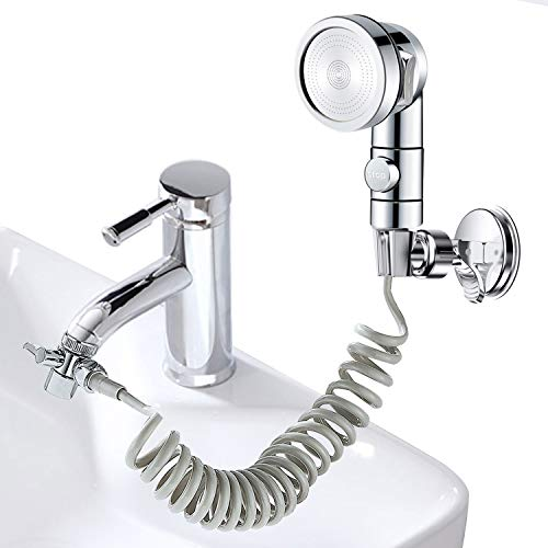 ZCONIEY Sink Bathtub Faucet Sprayer Attachment Hair Pet Rinser Showerhead with Stop Water-saving Function