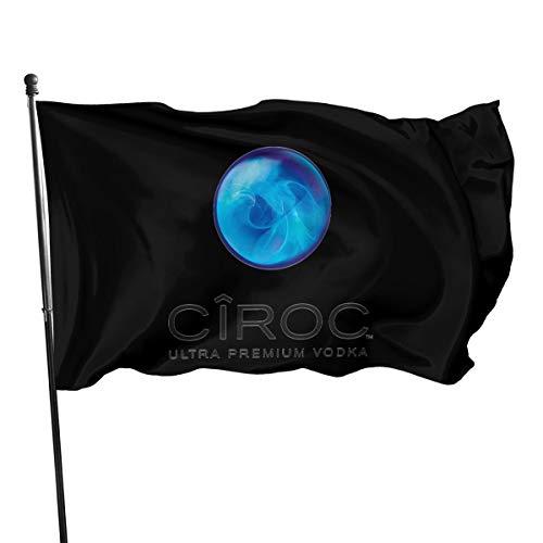 N / A Ciroc Vodka Fahnen Flagge Flag Banner Polyester Material Gartenbalkon Gartendekoration Im Freien 90x150cm