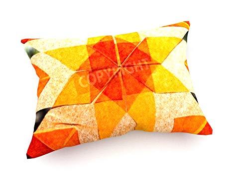 weewado Jeffery Cleveland - Géométrique Orange Designs in Hand-Made Paper 60x40 cm Canapé Coussins - Art, Image, Peinture, Photo - Abstrait