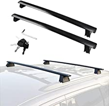 YITAMOTOR Cross Bars Roof Racks Compatible for 2011-2021 Jeep Grand Cherokee with Grooved Side Rails, Lockable Rooftop Luggage Crossbars for Carrying Cargo Carrier Bag Canoe Kayak Bike