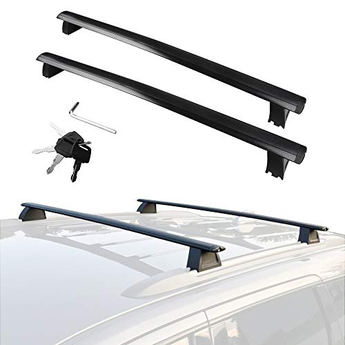 YITAMOTOR Cross Bars Roof Racks Compatible for 2011-2021 Jeep Grand Cherokee with Grooved Side Rails, Rooftop Luggage Crossbars with Anti-theft Locks Carrying Cargo Carrier Bag Canoe Kayak Bike