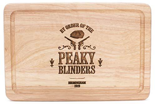 Peaky Blinders - Tabla de cortar de madera dura, diseño y grabado en el Reino Unido