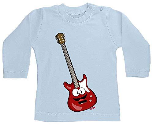 Hariz - Camiseta de manga larga para bebé, guitarra eléctrica, sonriente, instrumento...