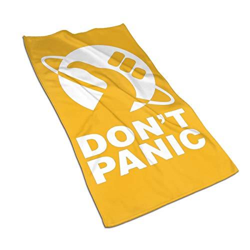 Don't Panic Handtücher, Badezimmer, Küche, weich, Mikrofaser, Strand, Reise-Handtuch für Pool, Bad, Spa, Fitness, Schwimmen, Haustier, Camping, Outdoor, Heimdekoration One Size weiß