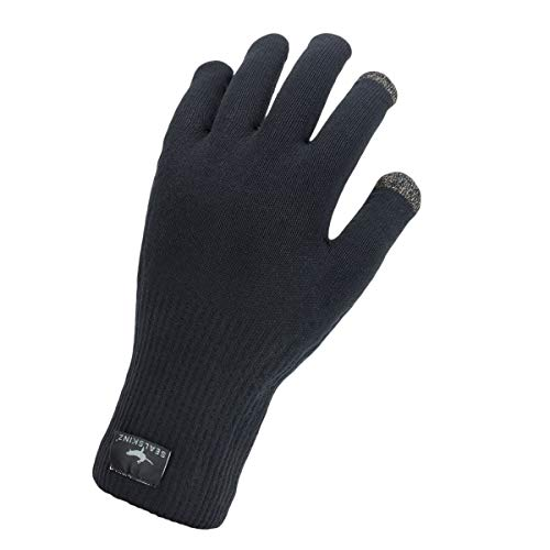 SealSkinz Waterproof All Weather Ultra Grip Knitted Glove, Black, L
