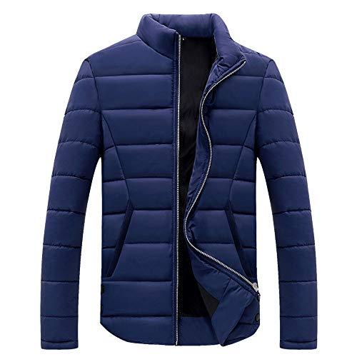 Doudoune Homme Hiver Chaud Manteau Épais Blouson aviateur Homme Veste Moto Hommes Fermeture Éclair Col Montant Sweatshirts Pull Sweat Pullover, Manche Longue Hooded Trench Coat Outwear