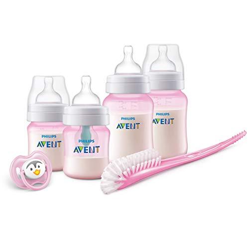 Philips Avent SCD807/01 Coffret cadeau Anti-colic avec valve AirFree, Kit nouveau-né et biberons avec valve AirFree inclus