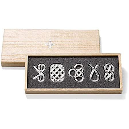 【能作 和紙でラッピング】 箸置 - 結び - 5個入