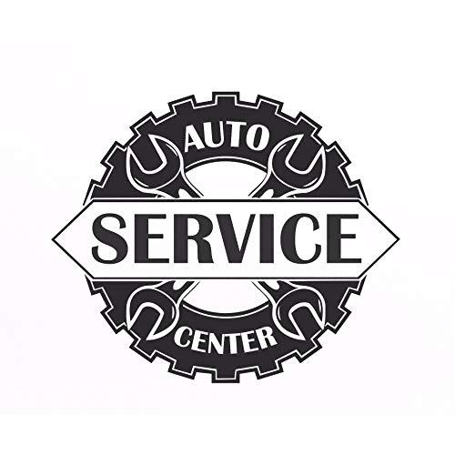 zqyjhkou Auto Service Center Logo Fenster Aufkleber Vinyl Aufkleber Reparatur Auto Station Zeichen Garage Wanddekorationen Abnehmbare Art Decals 110x92cm