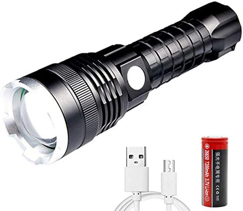 Rechargeable Led Flashlight XHP70 High Lumens 10000 Lumens Super Bright 5 Modes Zoomable Tactical product image